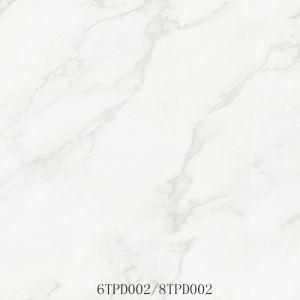 Snow White Polished Porcelain Floor Tile (6TPD002/8TPD002)