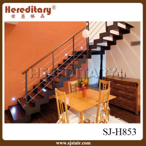 Wood Step Straight Staircase for Interior Decoration (SJ-H853) pictures & photos