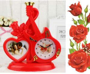 Modelling of The Guitar Romantic Photo Frame Table Clock pictures & photos