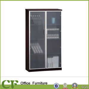 2 Meter Wall Cabinet Modern Glass Office Filing Cabinet pictures & photos