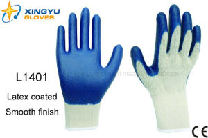 10g T/C Shell Latex Coated Safety Work Glove (L1401) pictures & photos
