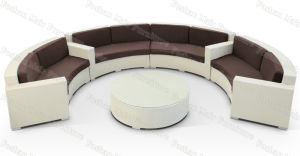 Outdoor Rattan Sofa Suite Set, Semi Circular Rattan Sofa Suite Set (M5S409)