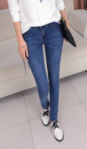 Popular Stylish Women Denim Skinny Jeans pictures & photos