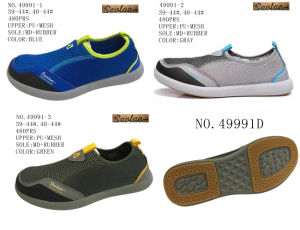 No. 49991 Men′s Sport Stock Shoes Slip on Shoes pictures & photos