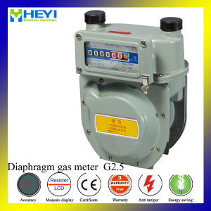 Mechanical Diaphragm Natural Aluminum Case Gas Meter pictures & photos