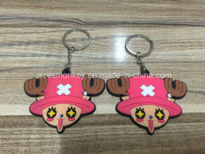 OEM Cheap Custom Soft PVC 3D Keychain Plastic Key Ring pictures & photos