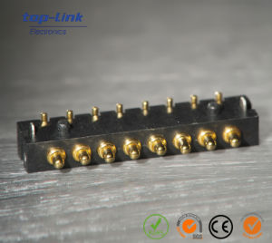 Single Row 8pin Bending Spring Loaded Pogo Pin Connector