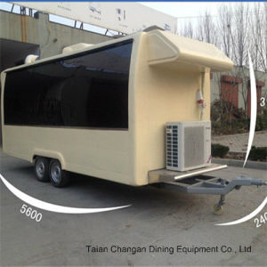 Towable Mobile Food Trailer Food Van for Sale pictures & photos
