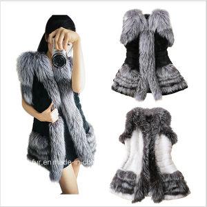 2015 Hot Sale Fox Rabbit Patchwork Fur Vest Free Shipping