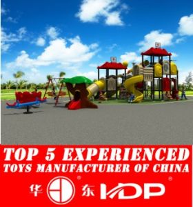 Outdoor Plastic Playground Amusement Park Slide (HD14-020A) pictures & photos