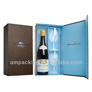 Wholesale Price Custom Printed Magnetic Closure Gift Box for Wine Bottle pictures & photos
