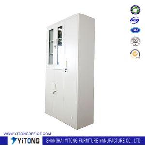 5-Door Glass Door Metal Storage Cabinet / Office Use Steel Locker pictures & photos