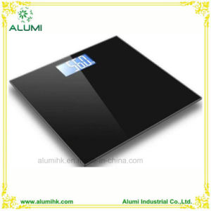 Tempered Glass Large LCD Display Digital Scale for Hotel Bathroom pictures & photos