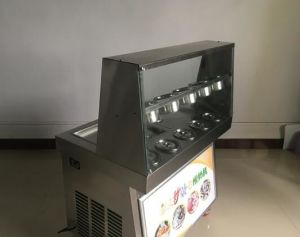 Big Square Fried Roll Ice Cream Machine with 6 Box pictures & photos