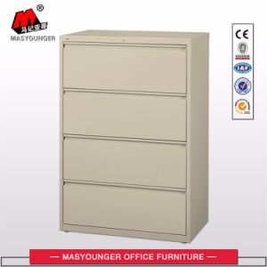 Office Use File Storage Lateral 4 Drawers Steel Metal Filing Cabinet pictures & photos