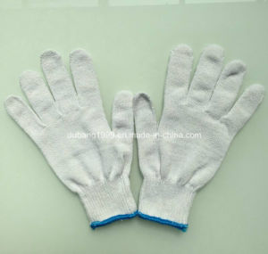 10gauge Bleached Yarn Made Knitted Cotton Gloves Woking Gloves pictures & photos