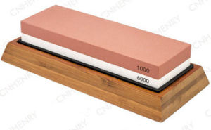 3000/8000 Grit Combination Whetstone Two-Sided Knife Sharpener 7-Inch Sharpening Stone Plastic Stand Included pictures & photos