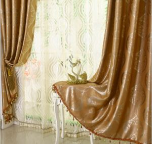 European Curtain Double-Faced Jacquard Black-out Curtain (MM-118) pictures & photos
