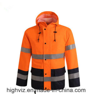 Reflective Rain Jacket with ANSI107 (C2447) pictures & photos