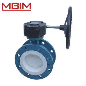 PTFE Lined Butterfly Valve (ANSI/DIN/JIS Flange) pictures & photos