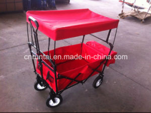 Good Quality Durable Use Red Color Fabric Folding Wagon (TC2015-1) pictures & photos