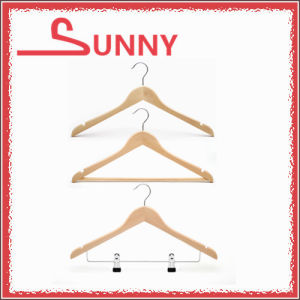 Hot Sale Wooden Hanger for Suit with Bar