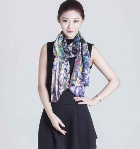 100%Silk Digital Printed Scarf pictures & photos