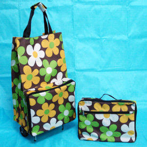 Wheel Shopping Bag Made of Waterpfoof Fabric