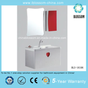 Elagant Wall Mounted PVC Board Ceramic Bathroom Cabinet, Vanity (BLS-16106) pictures & photos