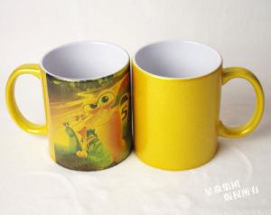 11oz Golden Color Pearl Coating Mugs pictures & photos