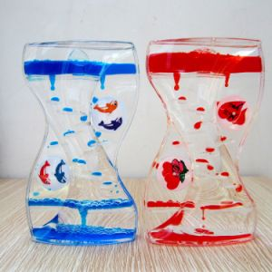Acrylic Colorful Liquid Oil Hourglass (MQ-ACH05) pictures & photos