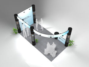 Portable Floor Standing Pop up Display Modern Exhibition Booth pictures & photos