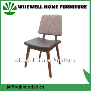 Solid Ash Wood Home Furniture Fabric Dining Chair (W-DC-06) pictures & photos