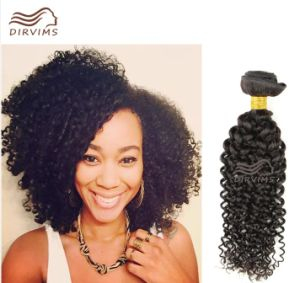 Indian Human Hair Weft Kinky Curly Hair No Tangle No Shedding Hair