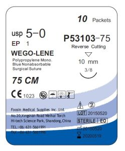 Good Quality Polypropylene Suture with Small Needle pictures & photos