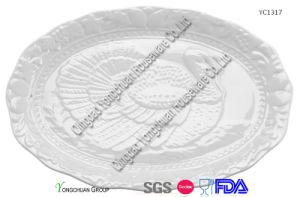 Ceramic Large Turkey Platter for Wholesale pictures & photos