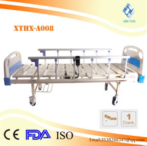 Cheap Price 2 Funcions Ce/ISO Medical Electrical Hospital Bed with IV Pole pictures & photos