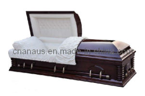 US Style Solid Cherry Wood Casket (6050502) pictures & photos