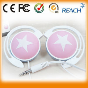 Good Quality 3.5mm Earhook MP3 Earphone for iPhone pictures & photos