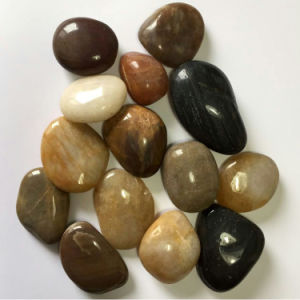 3-5cm Mixed Color High Polished Natural Cobble &Pebble Stone (SMC-PM015) pictures & photos