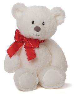 Super Soft and Stuffed White Plush Teddy Bear