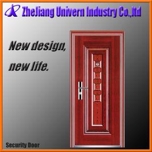 Exterior Security Double Solid Wood Steel Doors pictures & photos