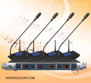 Infrared Automatic Frequency UHF Four Channels Wireless Microphone