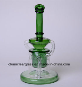 Wholesale New Design Colored Glass Water Smoking Pipe Recycler pictures & photos