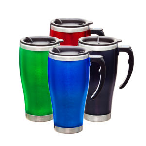 BPA-Free Stainless Steel Travel Mug with Plastic Handle pictures & photos