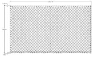 8FT X 14FT Mesh 60mm X 60mm Corss Brace Temporary Construction Security Fence Panels pictures & photos