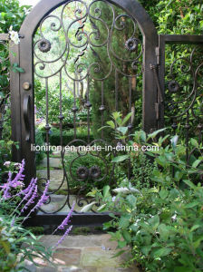 Arch Top Wrought Iron Gate and Fence with Beatiful Flower Design pictures & photos