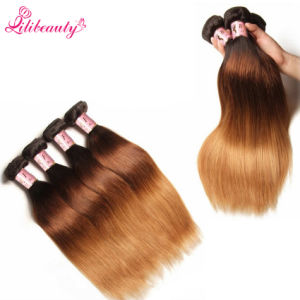 Wholesale 7A Brazilian Remy Human Hair 3t Straight Hair Bundles pictures & photos