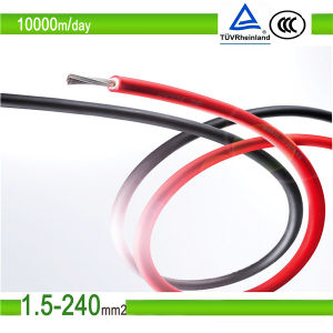 Tuc Certified PV1-F Solar PV Cable for Solar Panel System pictures & photos