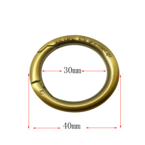 Handbags Plated Metal O Ring Alloy Round Carabiner Hook pictures & photos